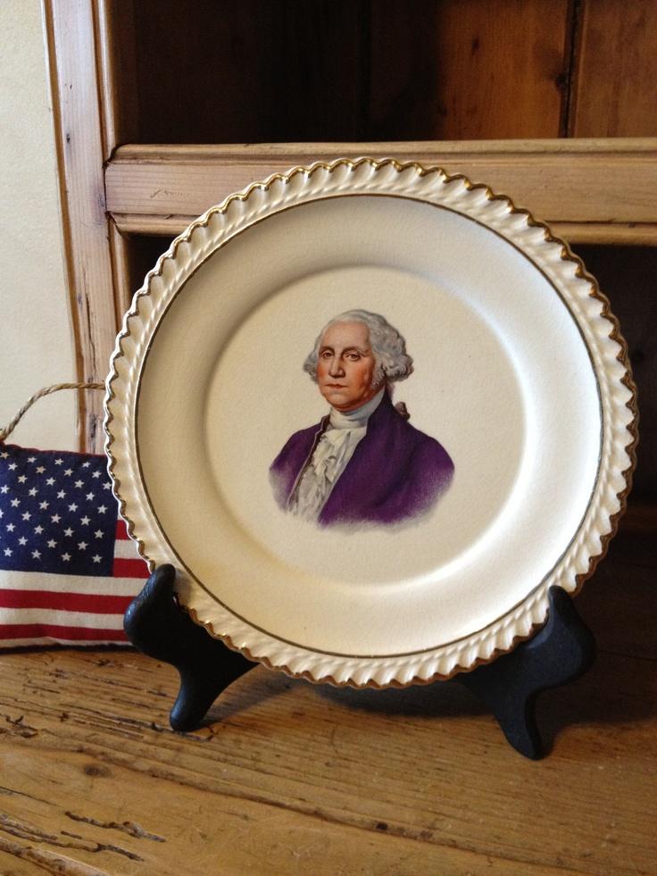 Vintage Historical George Washington Plate. $8.00, via Etsy.