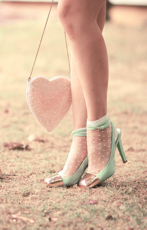 Delicate and romantic: Green Shoes, Fashion, Mint Green, Polka Dots, Heart, Tiffany Blue, Blue Shoes, Heels, Bags