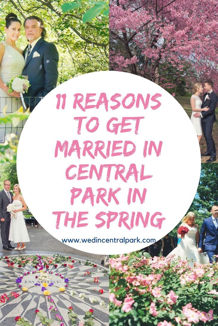 Eleven Reasons to get Married in the Spring in Central Park
