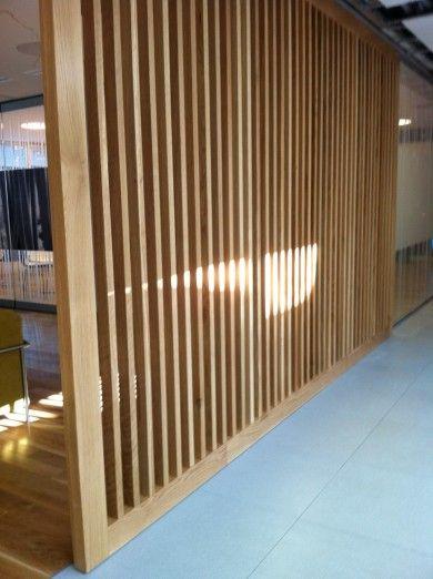 Separar espacios con madera