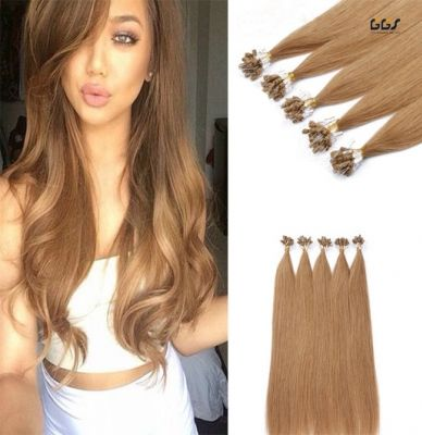 Micro Ring Hair Extensions #16 Golden Blonde Straight Wave Brazilian Hair Unprocessed Virgin Remy Nano Loop Hair Weaves 5A 100g