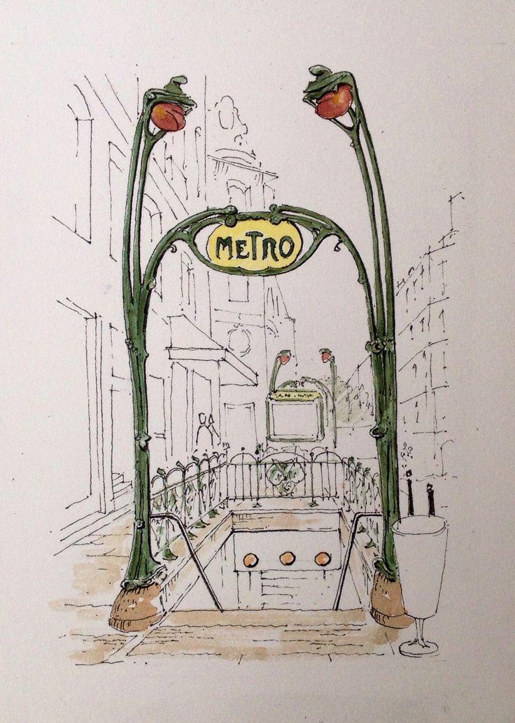 Paris Metro ~ sketch