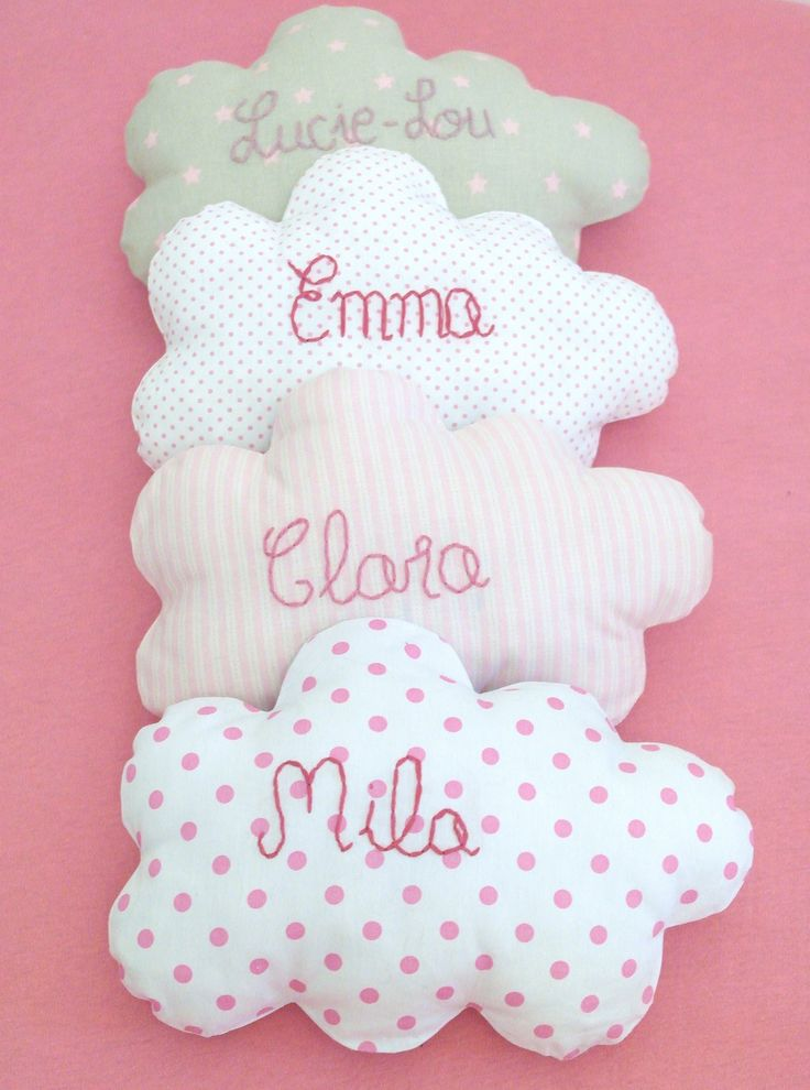 Un nuage de tendresse personnalisé au prénom de votre enfant, pour un cadeau de naissance, baptême ... : Décoration pour enfants par 3-pommes-dans-un-panier