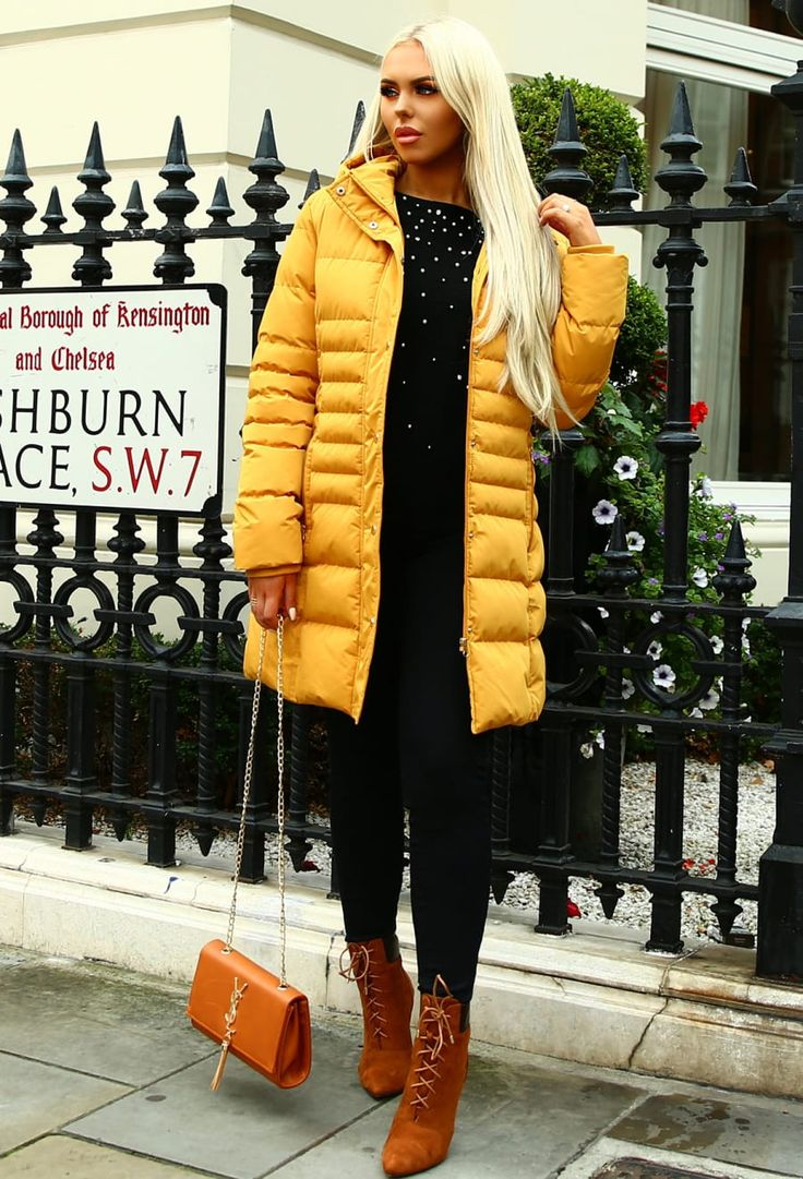 Keeping It Casual Mustard Hooded Puffer Coat