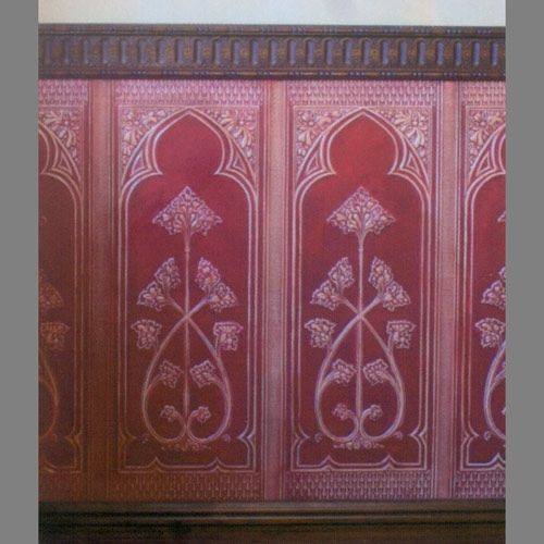 Paintable Wall Panels : Dado paneling gothic paintable lincrusta wallpaper