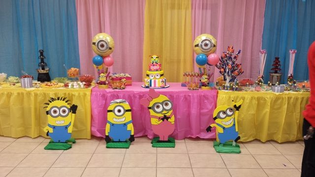 pink minions Birthday Party Ideas   Photo 1 of 15   Catch My Party