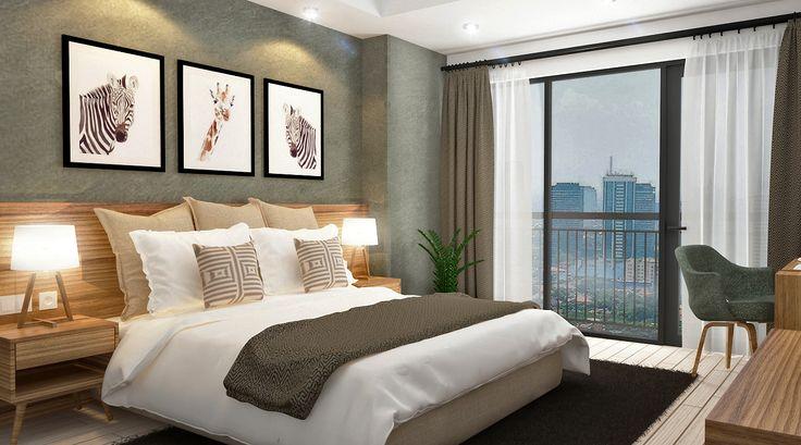 Mid Century Hotel Room