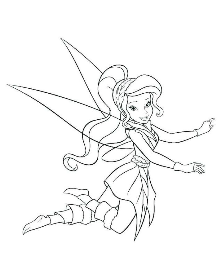 Printable Tinkerbell Coloring Pages In 2020 With Images Fairy