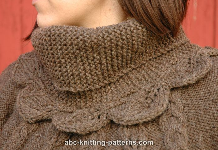 ABC Knitting Patterns - Elaine's Leaf Cowl