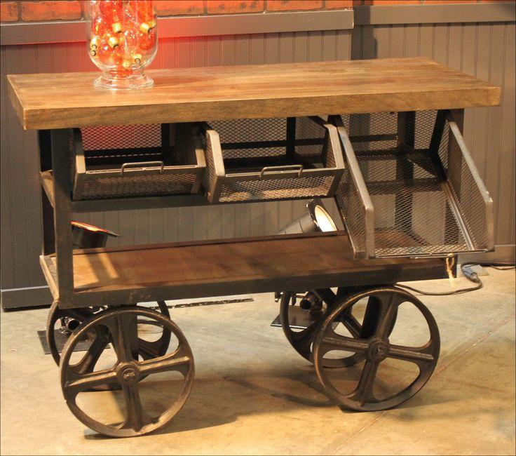 Outdoor Serving Cart On Wheels