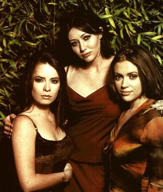 The Power Of Three Will Set You Free / Shannen Doherty as Prue Halliwell, Holly Marie Combs as Piper Halliwell, and Alyssa Milano as Phoebe Halliwell in Charmed