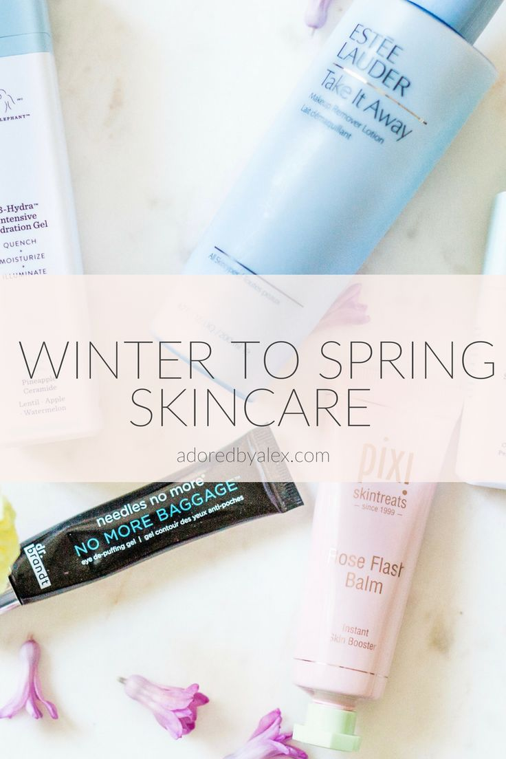 Winter to Spring skincare products, skincare must-haves, beauty routine