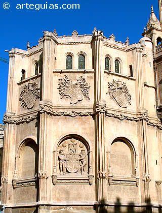 Exterior de La Capilla de los Vélez, de la Catedral de Murcia.