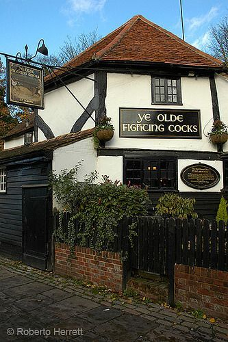 Ye Olde Fighting Cocks, St Albans, Hertfordshire | Projects | Pinterest | Photos, Empire and England