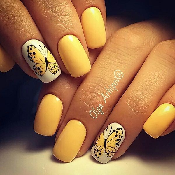 The 25+ best Yellow nail art ideas on Pinterest | Yellow ...