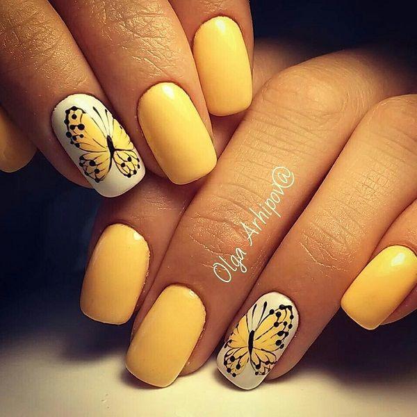 Best 25+ Yellow nail art ideas on Pinterest | Yellow nails ...