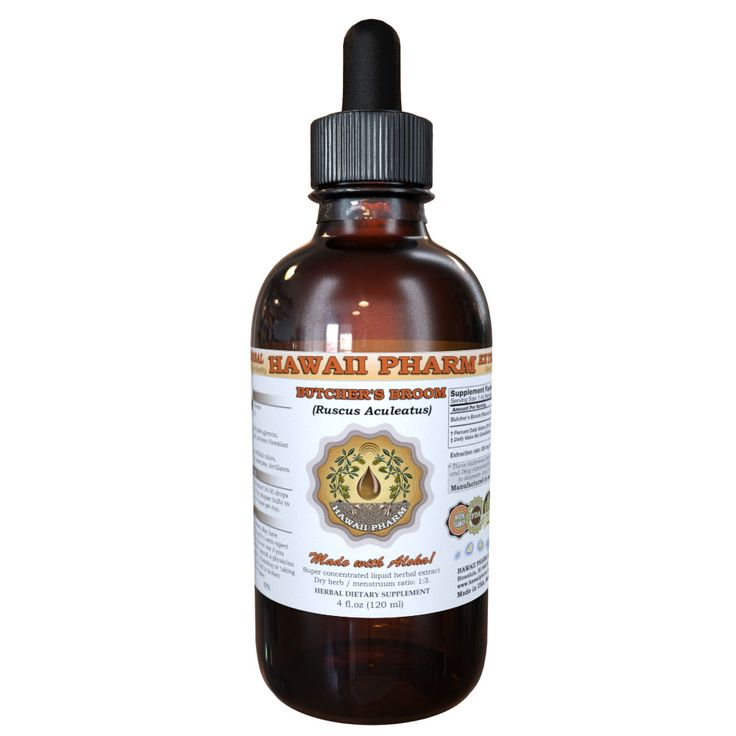 Butcher's Broom Liquid Extract, Organic Butcher's Broom (Ruscus aculeatus) Dried Root Tincture