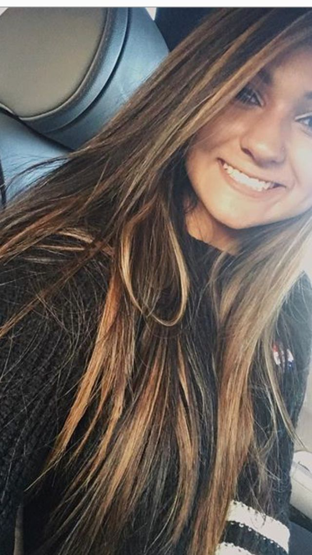 carmel foils dark brown hair