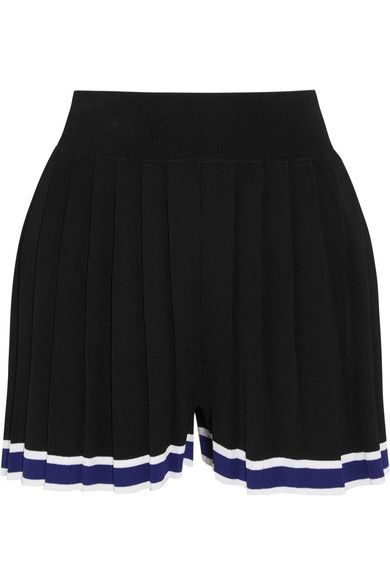 Tabula Rasa - Aracari Pleated Striped Stretch-knit Shorts - Black - x small