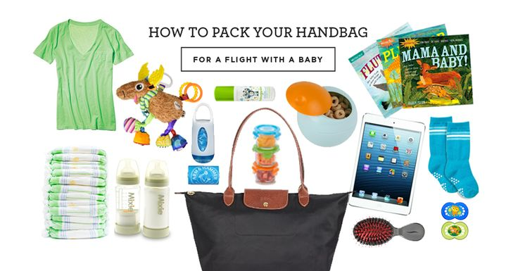 How to Pack Your Handbag for a Flight With a Baby - Pregnant Chicken