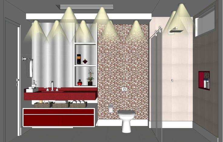 Projeto de reforma de banheiro realizado durante est gio for Programa para decorar interiores