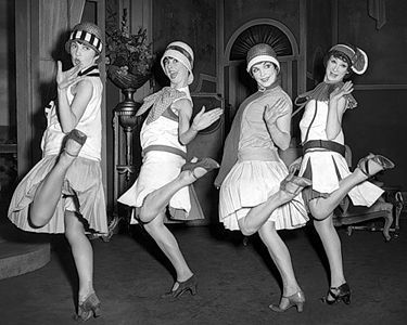 The flapper fashion went along with a fun-loving v…