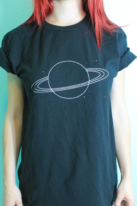 Planet Saturn Shirt by RealRebel on Etsy