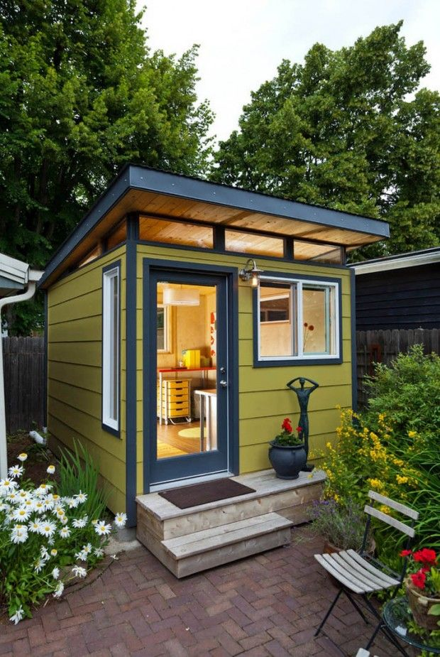 Modern Small Home Design Ideas With Backyard Office