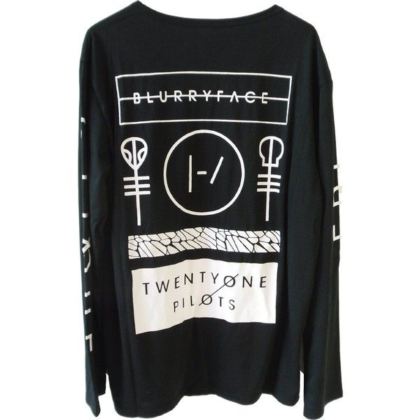 NBDIB Men's Long Sleeve T Shirt Twenty One Pilots Print Vetement Homme ($11) ❤ liked on Polyvore featuring men's fashion, men's clothing, men's shirts and men's t-shirts