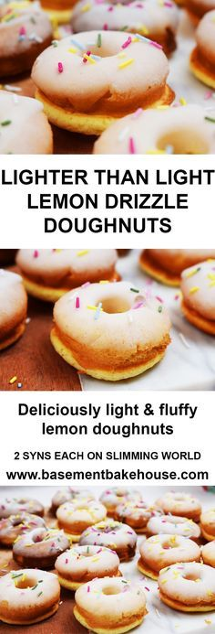 Lighter Than Light Lemon Drizzle Doughnuts - Low Syn on Slimming World - Healthy Doughnuts - Lemon Drizzle - Recipe