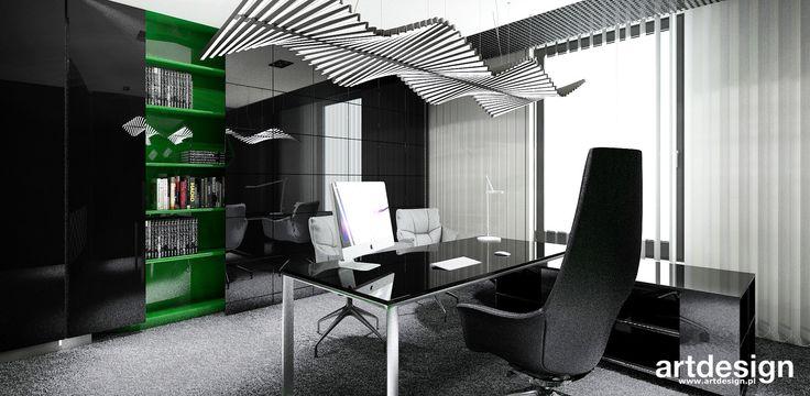 ERMAX   Wnętrza biurowe   projekt gabinetu