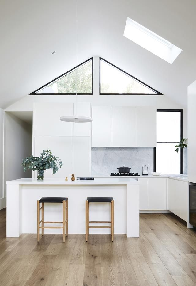 An open-plan renovation opened up this light-filled kitchen