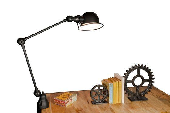 Lampada Jieldé Loft in nero opaco con morsa Foto ritagliata