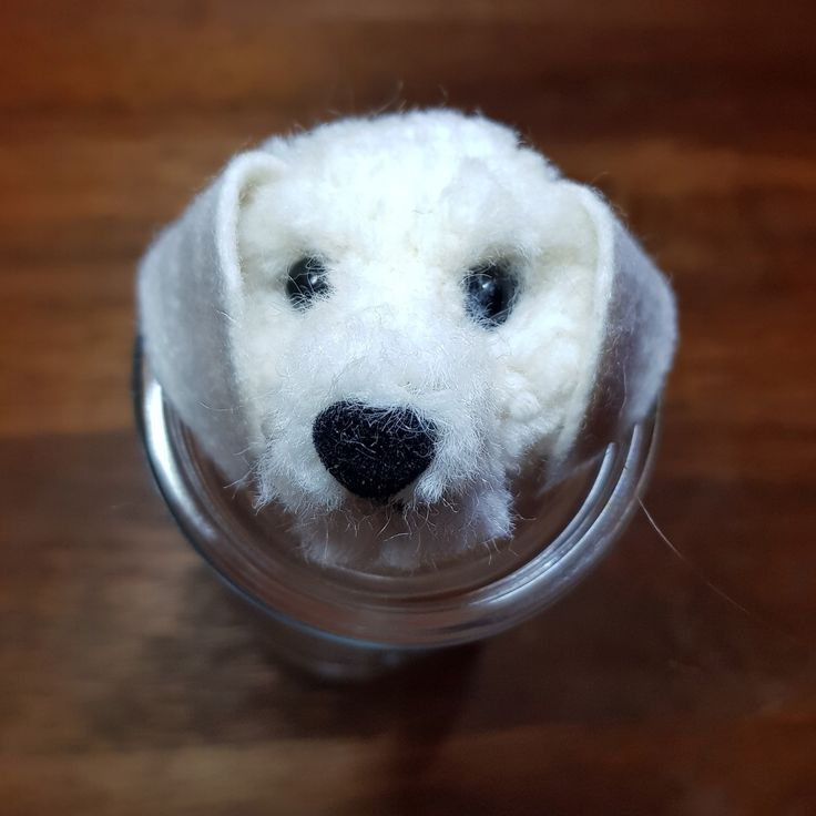 Pom pom dog Labrador Handcraft