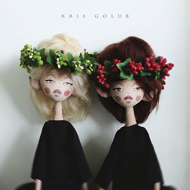 Gorgeous dolls! So unique... wonderful!  Цветочные нимфы ✨ Рост ок. 40см. Ручки ножки сгибаются. Умеют сидеть и пахнуть цветами   Каждая 4000. #krisgolub_dolls  __