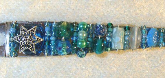 Beaded Serving Utensils Mediterranean by DesertKippot on Etsy