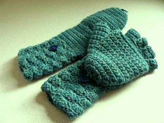 "Crochet Convertible Glove Mittens (aka ""Glittens"") - a free pattern link and several different adaptations"