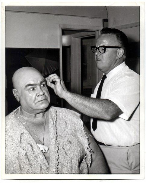 Tor Johnson and John Chambers in 1966 Mr.Chanbers did a life mask of Tor-which became the famous Tor Jonson Don Post mask.