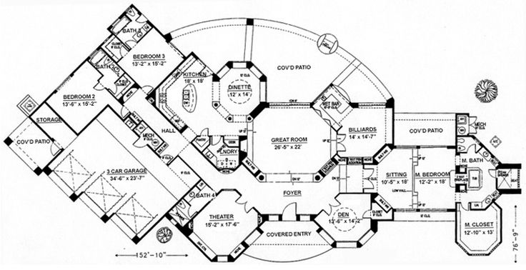 Southwestern House Plan chp-26863 at COOLhouseplans.com