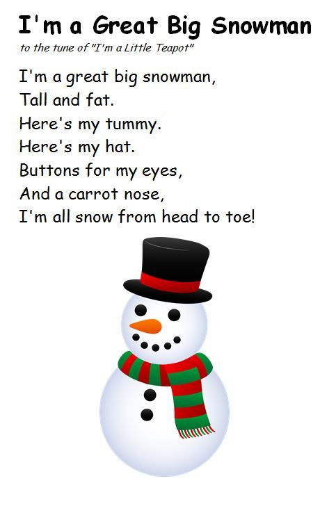 Selection of winter rhymes/songs.