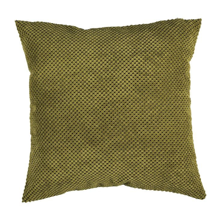 Kussen blokje groen 45x45 cm   Xenos