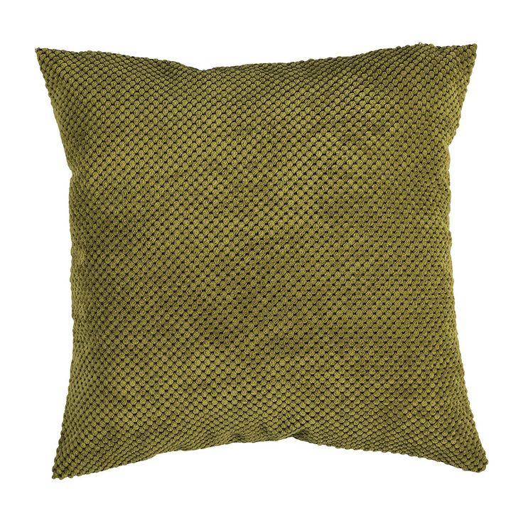 Kussen blokje groen 45x45 cm | Xenos