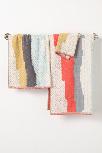 Show Your Bathroom Some Love With These So-Chic Design Finds #Refinery29. Anthropologie Sechura Towels $8–48, available at Anthropologie.