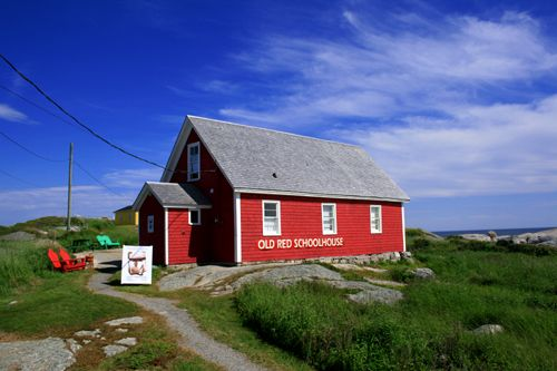 Peggy's Cove's original one room schoolhouse built in 1834