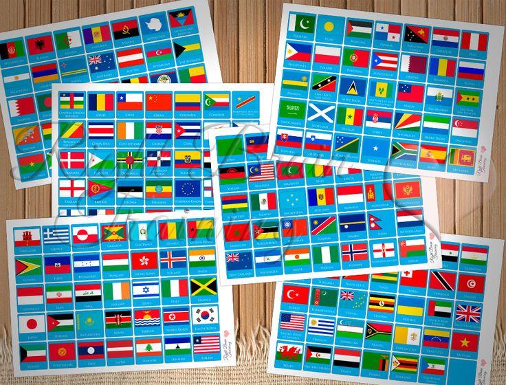 Флаги стран мира - Занятия для развития детей RightBrain.Training