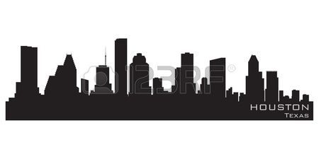 Houston Texas skyline Detailed silhouette Stock Vector