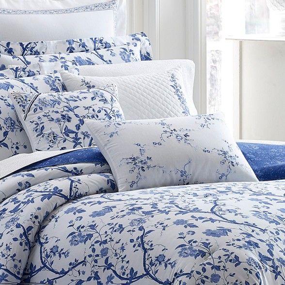 Laura Ashley Blue Comforter Sets, Laura Ashley Charlotte Blue Bedding