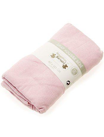Drap housse uni pour lit bébé                                                                                         fuchsia Bébé fille   - Kiabi