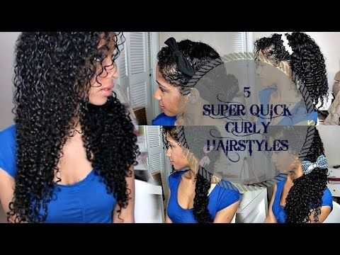 5 SUPER QUICK CURLY HAIRSTYLES