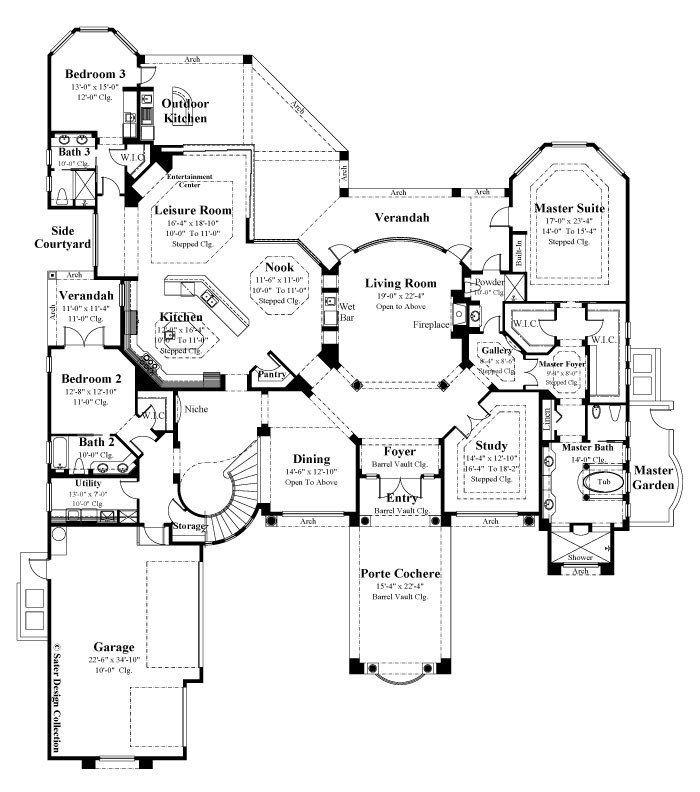 Mediterranean Luxury Floor Plans: Best 25+ Luxury Mediterranean Homes Ideas On Pinterest